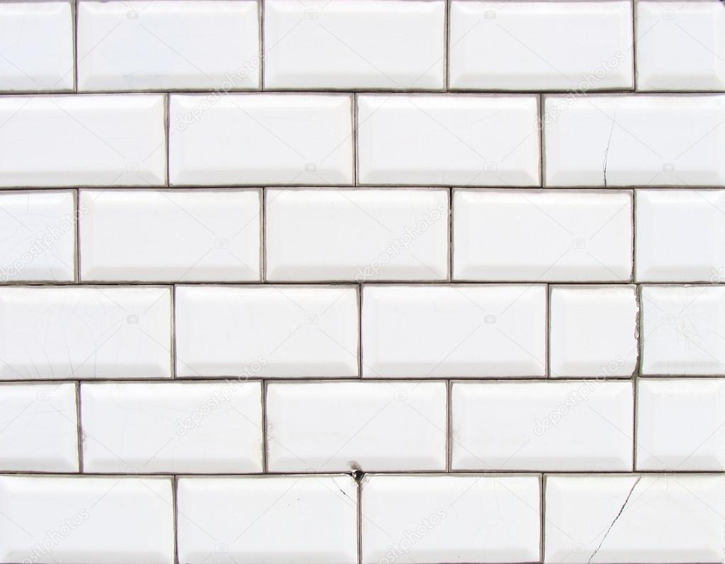 Dettaglio di una parete lucida piastrelle bianche smussato - Piastrelle parete ...