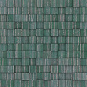 Square mosaic tiled yellow blue green grunge pattern — Stockfoto
