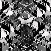 Etched like futuristic city in black and white — Стоковое фото