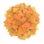 3d abstract orange yellow shape on white — Stock Photo