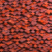 Grunge cube collection in red pink orange — Foto Stock