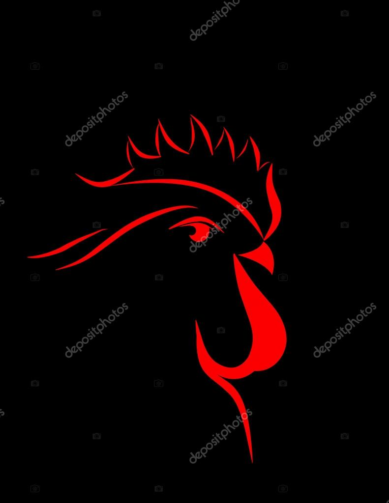 Abstract cock 2017 vector isolated stock vector irinavk 109406956 - Cock designing ...