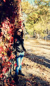 Girl or woman in the autumn — Photo