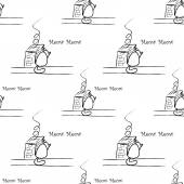 Naadloze patroon met kat — Stockvector