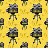 Seamless pattern with cameras — Stock Vector