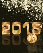 Golden New 2015 Year, vector illustration — Stock Vector
