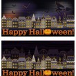 Happy Halloween banners, vector illustration — Stock Vector #52807121