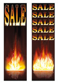Fire sales banners, vector — Stock Vector