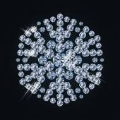Fashion  diamond snowflake, vector illustration — Vettoriale Stock