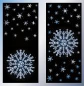 Diamond snow banners, vector illustration — Stockvector