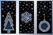 Diamond xmas banners, vector illustration — Stockvector