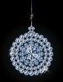 Diamond xmas ball, vector illustration — Stockvector