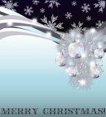 Carta di invito merry christmas, illustrazione vettoriale — Vettoriale Stock