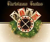 Christmas casino. Happy 2015 year background, vector illustration — Stock Vector