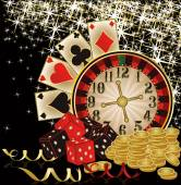 Merry Christmas Casino wallpaper, vector illustration — Stock Vector