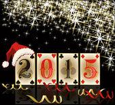 New 2015 poker year, vector illustration — Stock Vector