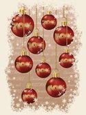 Christmas sale greeting card, vector illustration — Stock Vector
