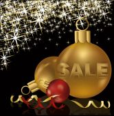 Christmas sale greeting background, vector illustration — Stock Vector