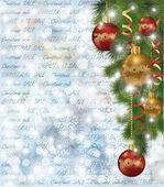 Christmas sale background, vector illustration — Stock Vector