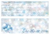Christmas sale banners, vector illustration — Stock Vector