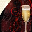 Valentines day love card with champagne, vector illustration — Vetorial Stock  #62151813