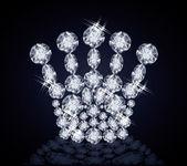 Brilliant  Queen crown, vector illustration — Stock Vector