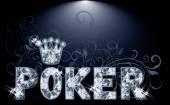 Tarjeta de felicitación de póquer diamante, ilustración vectorial — Vector de stock