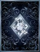 Poker diamonds brilliant card, vector illustration — Wektor stockowy