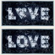 Diamond Love banners, vector illustration — Vettoriale Stock  #63980123