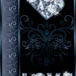 Diamond love valentines day card, vector illustration — Stock Vector #64026861
