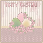 Happy Easter gift vintage card, vector illustration — Wektor stockowy