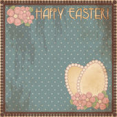 Happy Easter vintage gift card, vector illustration — Stock Vector