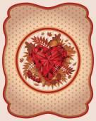 Autumn card vintage style, vector illustration — Stock Vector