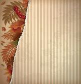 Sonbahar scrapbooking arka planda vintage tarzı, vektör çizim — Stok Vektör