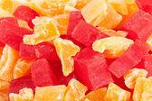 Papaya cantaloupe macro — Stock Photo
