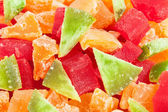 Papaya cantaloupe pomelo macro — Stock Photo