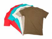 Colorful cotton t-shirts — Stock Photo