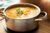 Butternut squash soup — Stock Photo