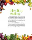 Healthy eating background — Stock Photo