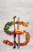 Cibo sano per sano business — Foto Stock