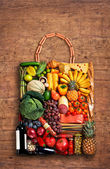 Gastronomy handbag — Stock Photo