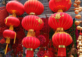 Big chinese traditional lanterns for traditional of Chinese Mid Autumn Festival or Chinese New Year Festival — Stock Photo