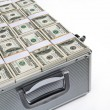 Case with dollars money — Stock Photo #63870961