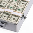 Lot of money in a suitcase — Stock Photo #63871599
