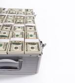 Money in suitcase — Stock Photo
