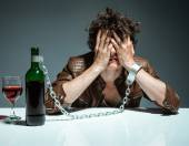 Alcoholic in despair — Stock Photo