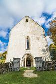 The church of St. Catherine in Karja, Saaremaa, Estonia. — Fotografia Stock