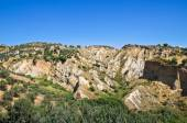 Badlands. Rocca Imperiale. Calabria. Italy. — Stock Photo