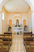 Kirche von st. franziskus. rocca imperiale. kalabrien. italien. — Stockfoto