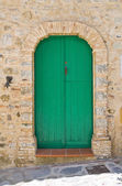 Wooden door. Rocca Imperiale. Calabria. Italy. — Foto de Stock